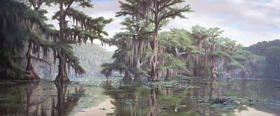 Caddo Lake At Mossy Brake Original by RC Davis