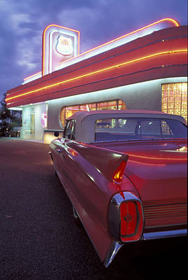 Caddy At Diner Art Print by Christian Heeb