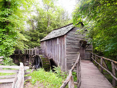 Cades Cove Cable Mill Art Print by Cynthia Woods
