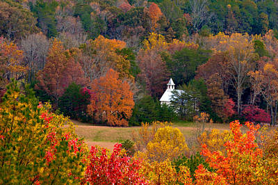 Photograph - Cades Cove Church by Tyson and Kathy Smith