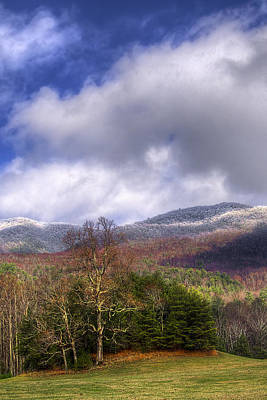 Photograph - Cades Cove First Dusting Of Snow II by Debra and Dave Vanderlaan