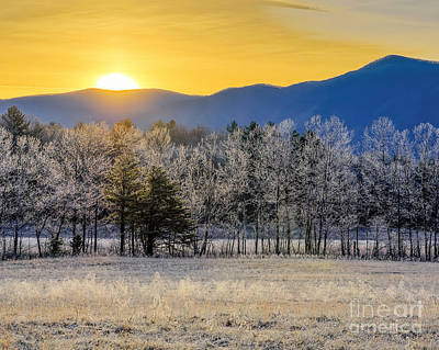 Photograph - Cades Cove Frost by Anthony Heflin