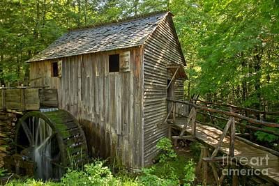 Photograph - Cades Cove Grist Mill Closeup by Adam Jewell