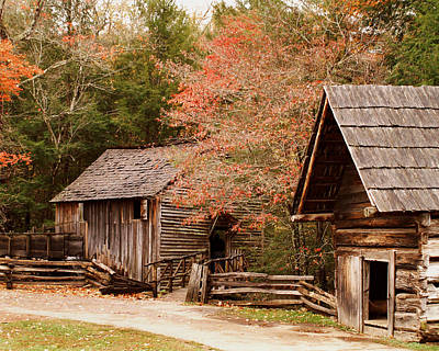 Cades Cove Grist Mill Art Print