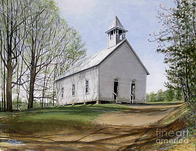 Painting - Cades Cove Methodist Church by Bob  George