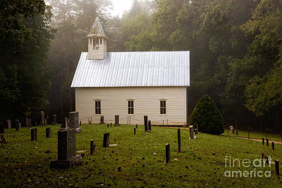Cades Cove Methodist Church Art Print