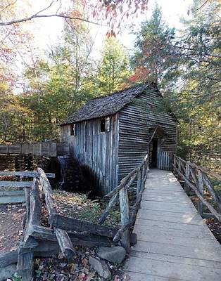 Photograph - Cade's Cove Mill In The Fall by Regina McLeroy