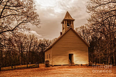Cades Cove Primitive Baptist Church Art Print