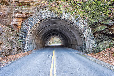 Cades Cove Road Tunnel Art Print