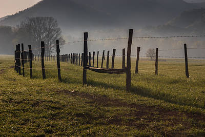 Art Print featuring the photograph Cades Cove Sunrise by Jay Stockhaus