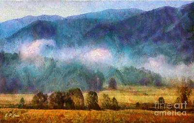 Smokey Mountains Painting - Cades Cove Tennessee  by Elizabeth Coats