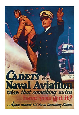 Cadets For Naval Aviation - World War2 Art Art Print