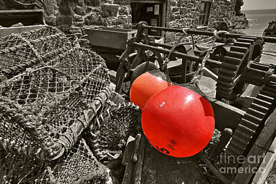 Crab Basket Photograph - Cadgwith Buoys  by Rob Hawkins