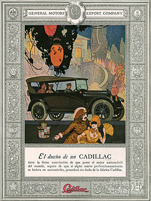 Drawing - Cadillac 1920 1920s Usa Cc Cars by The Advertising Archives