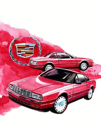 Gm Painting - Cadillac Allante by Yoshiharu Miyakawa