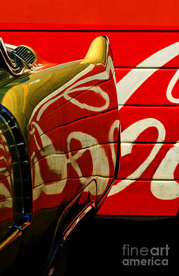 Cadillac And Coke Art Print by Gary Warnimont