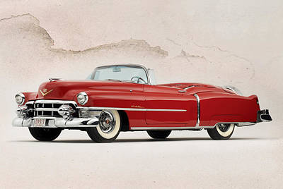 Wire Digital Art - Cadillac Eldorado by Peter Chilelli