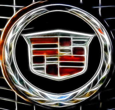 Photograph - Cadillac Emblem B by Lawrence Christopher