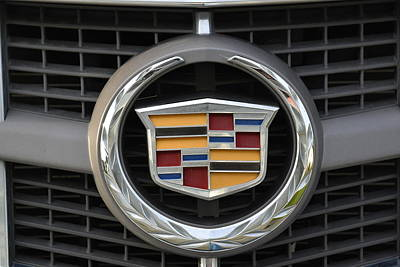 Photograph - Cadillac Emblem Front Srx by Lawrence Christopher
