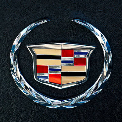 Car Photograph - Cadillac Emblem by Jill Reger