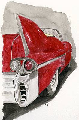 American Cars Drawing - Cadillac by Eva Ason