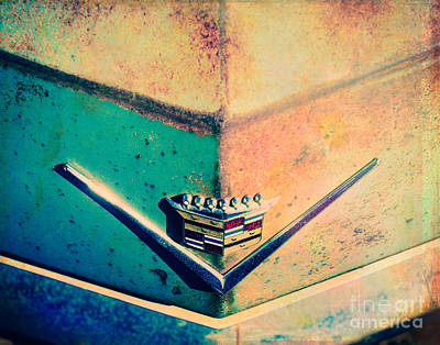 Turquoise And Rust Photograph - Cadillac In The Sun by Sonja Quintero