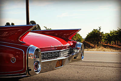 Cadillac In Wine Country  Art Print