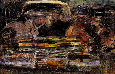 Art Print featuring the digital art Cadillac by Jim Vance