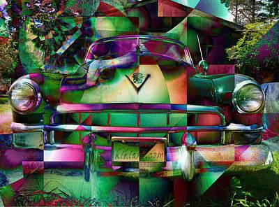 Digital Art - Cadillac by Kiki Art