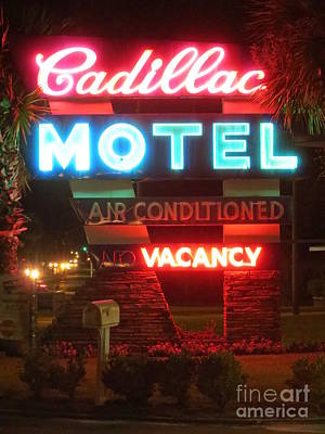 Photograph - Cadillac Motel by Tim Townsend
