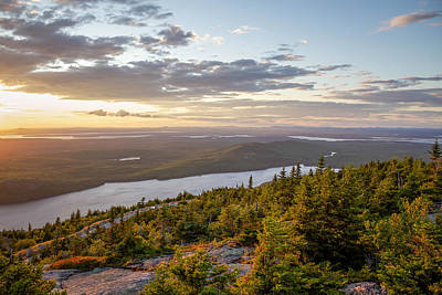 Art Print featuring the photograph Cadillac Mountain Sunset  by Trace Kittrell