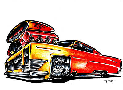 Cadillac Muscle Art Print by Big Mike Roate