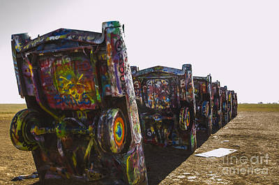 Photograph - Cadillac Ranch 3 Amarillo Texas by Deborah Smolinske