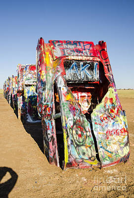 Photograph - Cadillac Ranch 4 Amarillo Texas by Deborah Smolinske