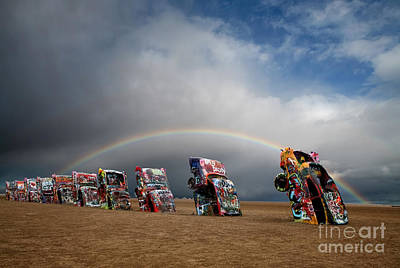In A Row Photograph - Cadillac Ranch by Keith Kapple