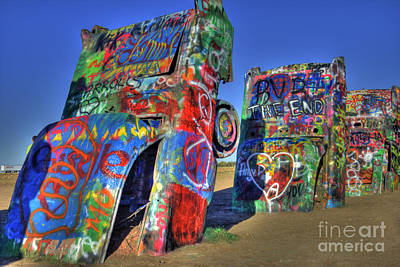 Photograph - Cadillac Ranch by Tony Baca