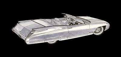 Painting - Cadillac Roadster Concept by Jack Pumphrey