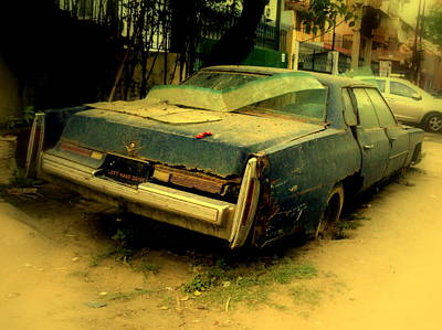 Cadillac Wreck Art Print by Salman Ravish