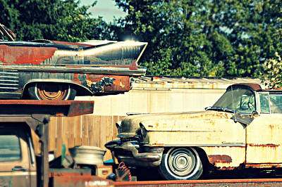 Cadillacs In Decay Art Print