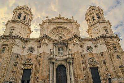 Photograph - Cadiz Cathedral by Maria Coulson
