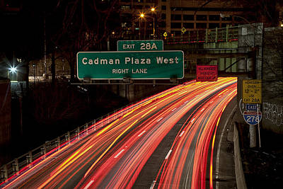 Photograph - Cadman Plaza Night by Sara Hudock