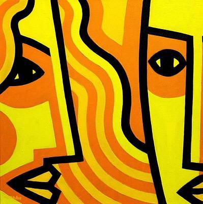 Inspirational Painting - Cadmium Lovers  by John  Nolan