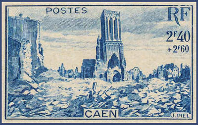 Calvados Painting - Caen Stamp by Lanjee Chee