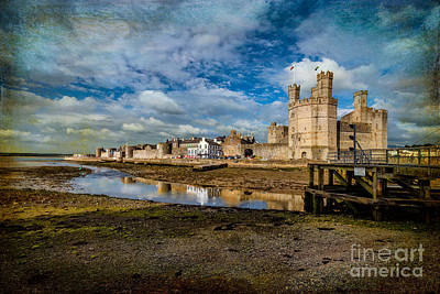 Tower Digital Art - Caernarfon Castle by Adrian Evans