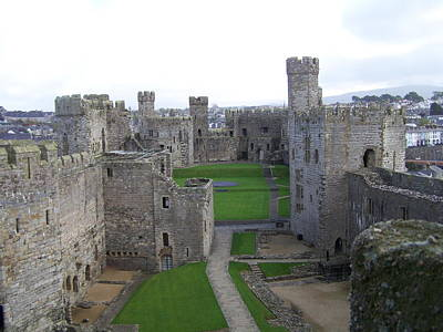 Print featuring the photograph Caernarfon Castle by Christopher Rowlands