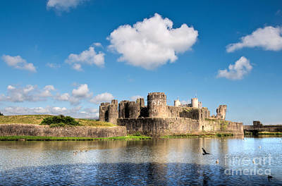 Photograph - Caerphilly Castle 1 by Steve Purnell
