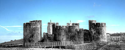 Photograph - Caerphilly Castle 10 by Steve Purnell