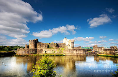 Photograph - Caerphilly Castle 11 by Steve Purnell
