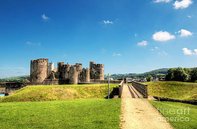 Photograph - Caerphilly Castle 2 by Steve Purnell