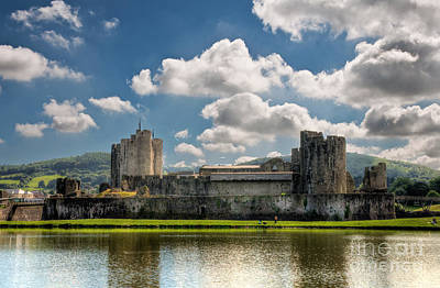 Photograph - Caerphilly Castle 3 by Steve Purnell
